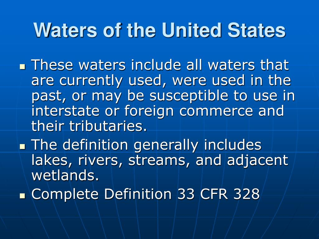 Waters of the United States