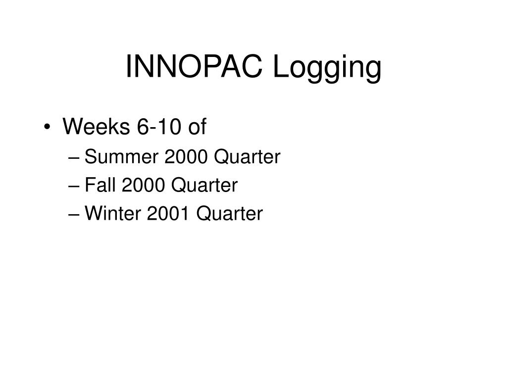 INNOPAC Logging