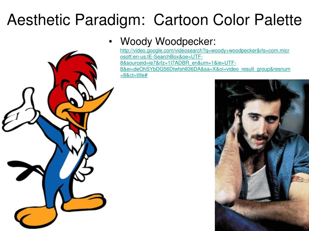 Aesthetic Paradigm:  Cartoon Color Palette