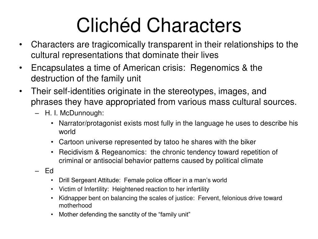 Clichéd Characters