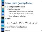 frenet frame moving frame