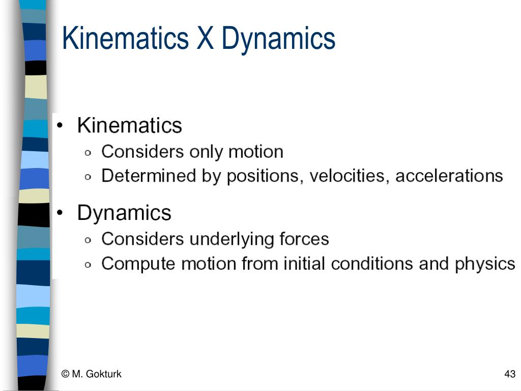 Kinematics X Dynamics