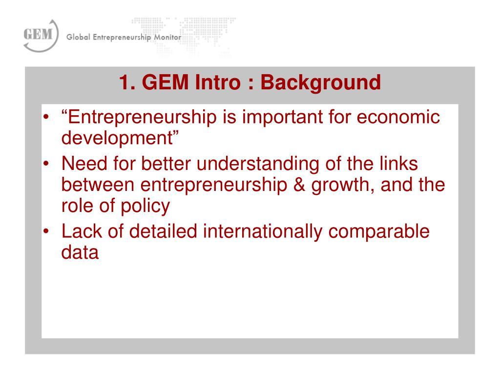 """Entrepreneurship is important for economic development"""