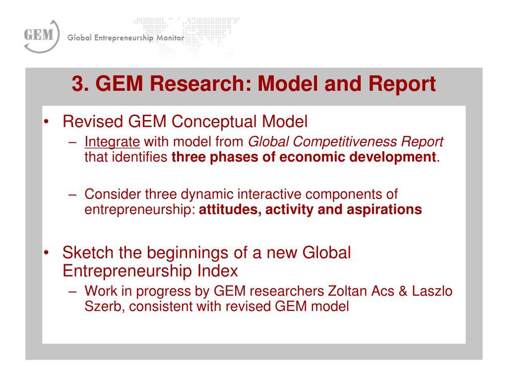Revised GEM Conceptual Model