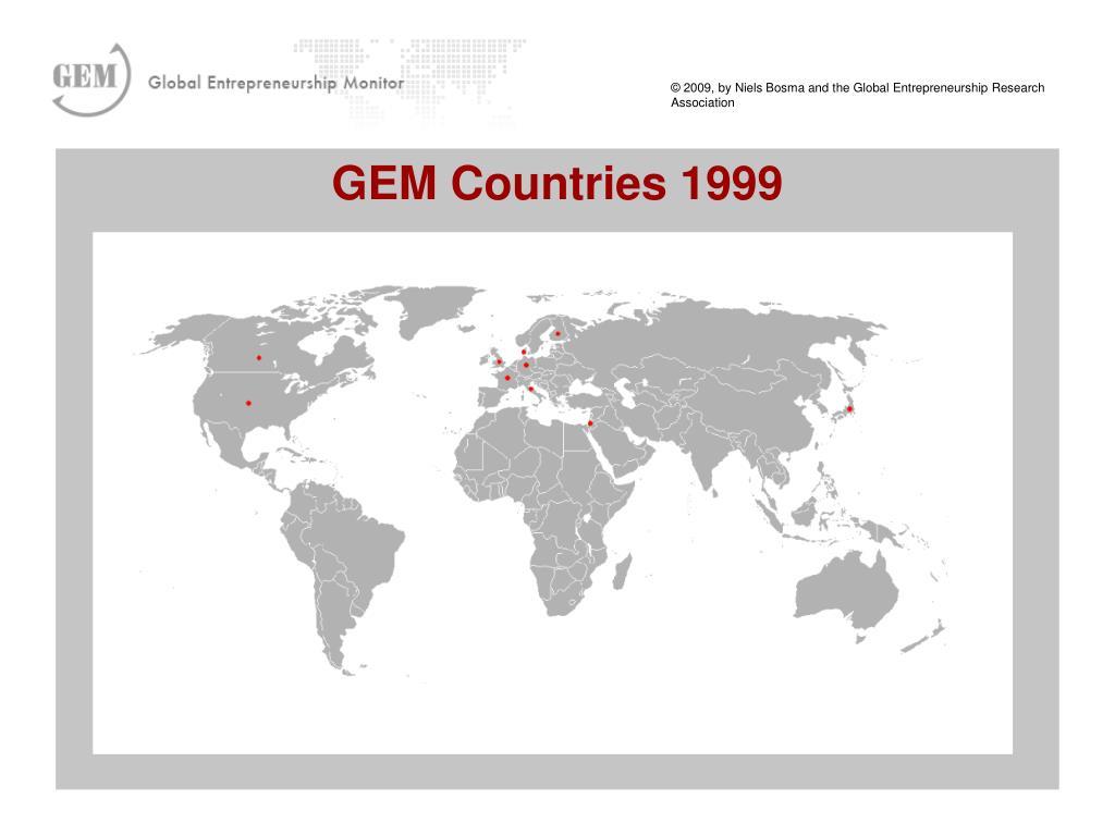 GEM Countries 1999
