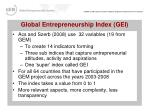 global entrepreneurship index gei27