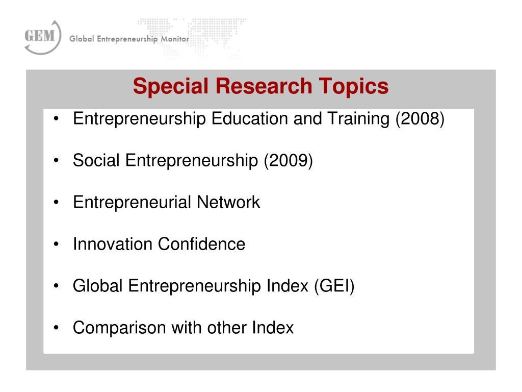 Entrepreneurship Education and Training (2008)