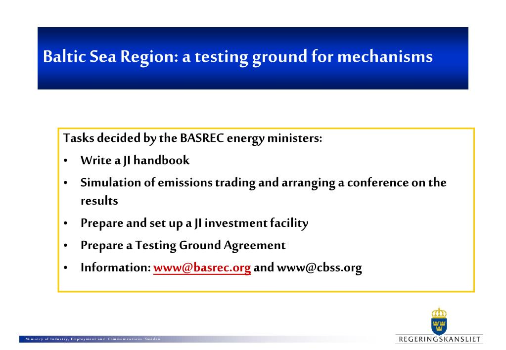 Baltic Sea Region: a testing ground for mechanisms