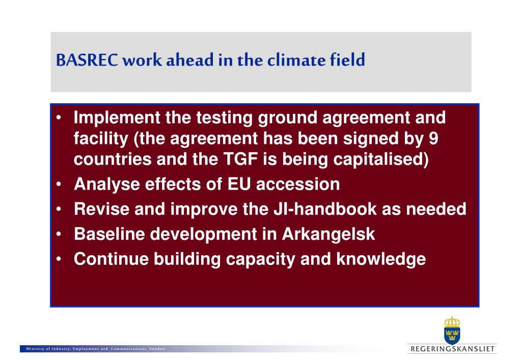 BASREC work ahead in the climate field