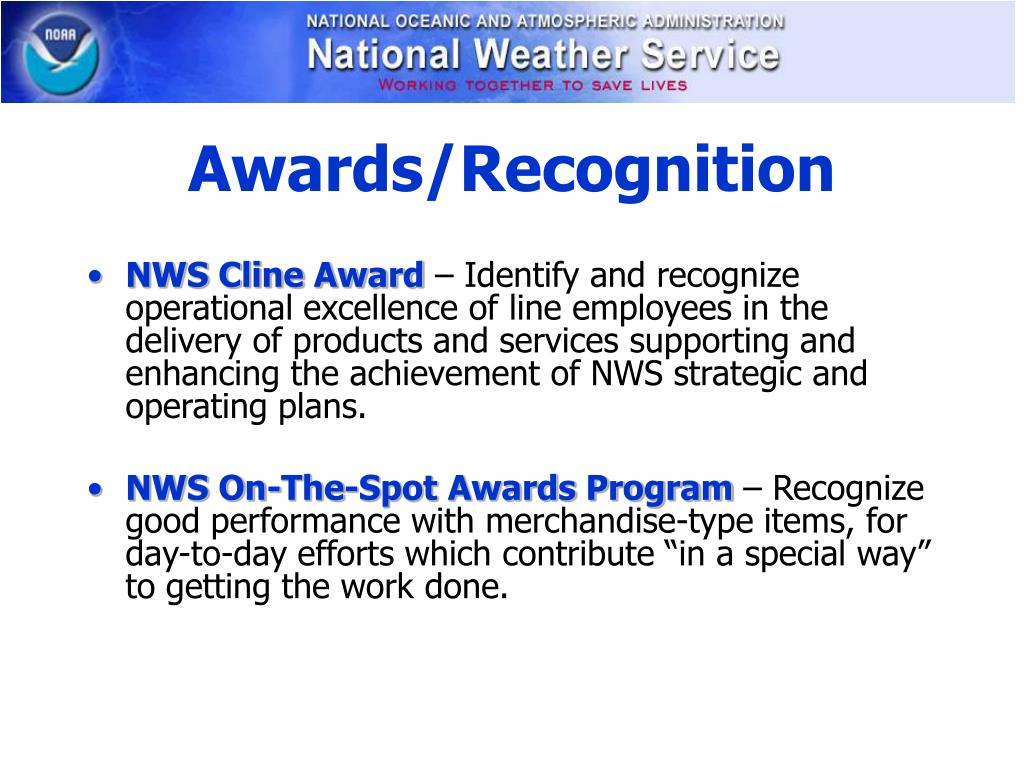 Awards/Recognition