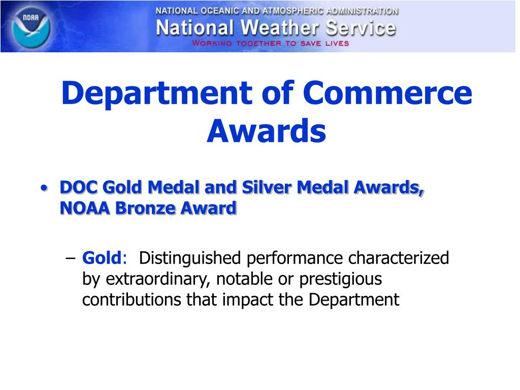 Department of Commerce Awards