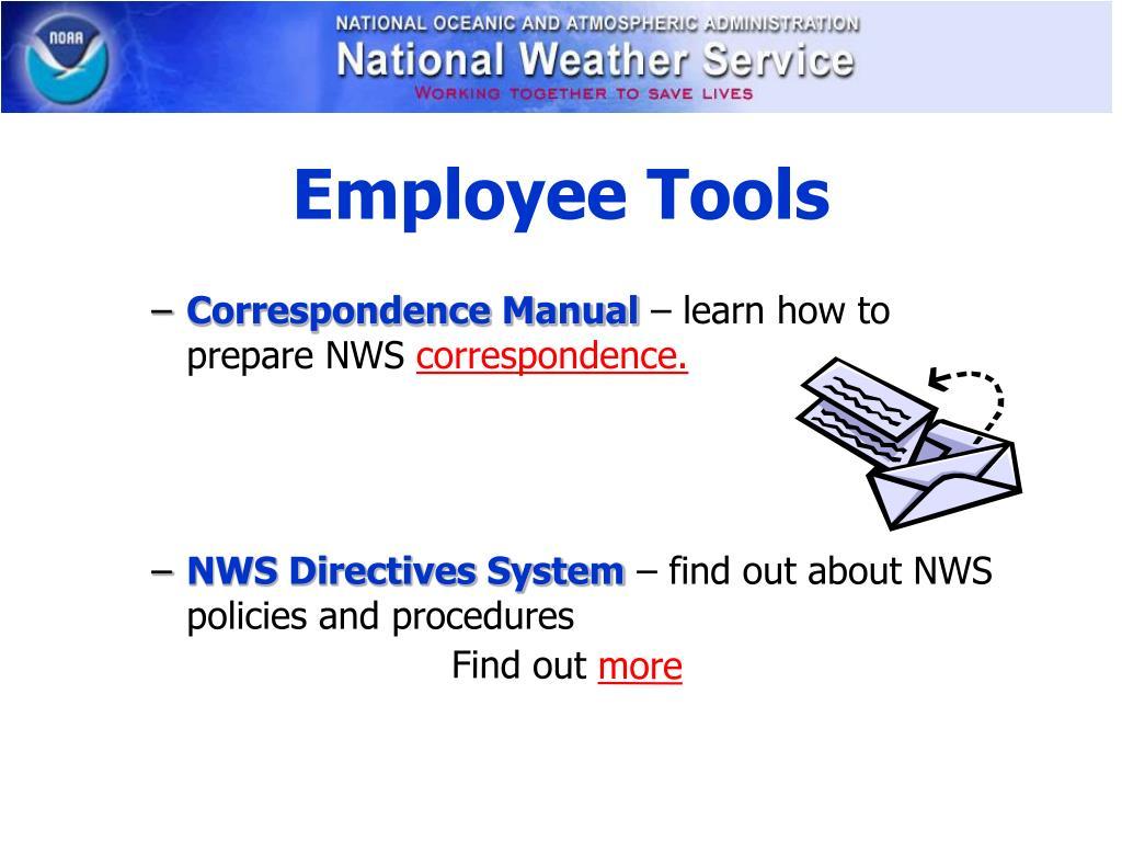 Employee Tools