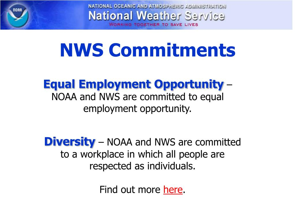 NWS Commitments
