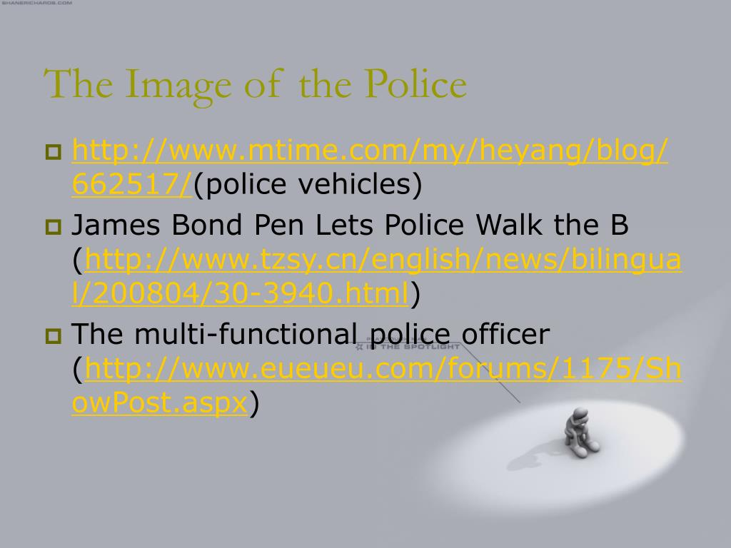 The Image of the Police