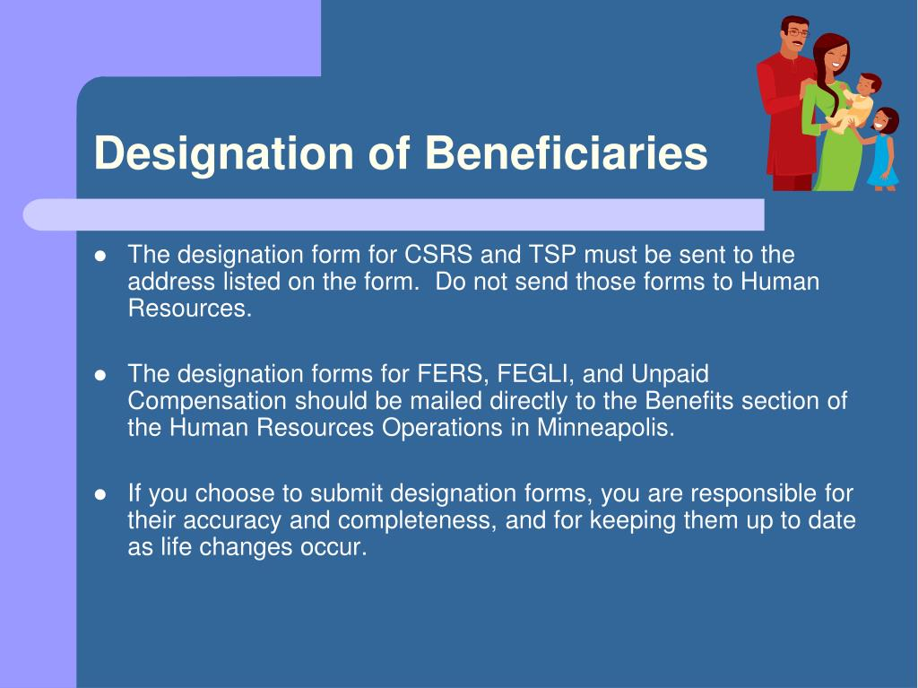 Designation of Beneficiaries