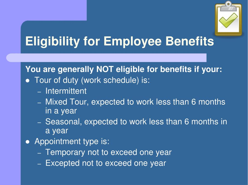 Eligibility for Employee Benefits