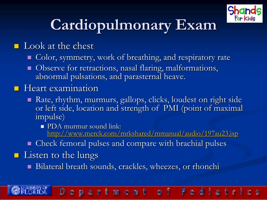 Cardiopulmonary Exam