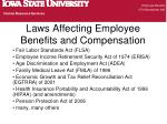 laws affecting employee benefits and compensation