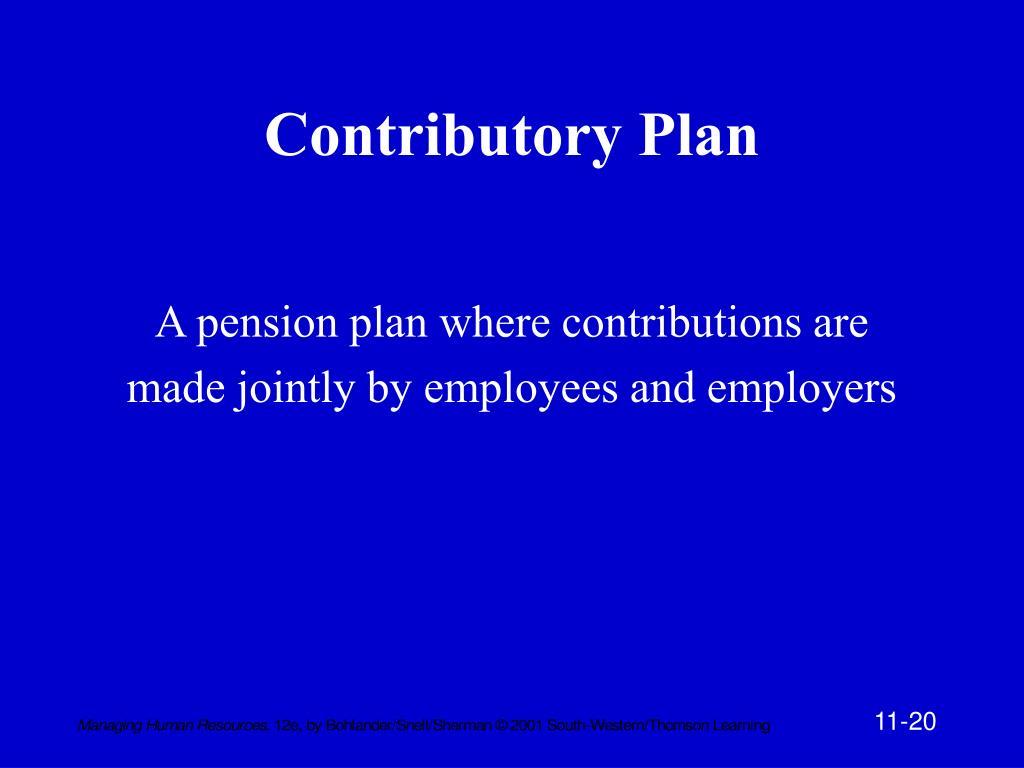 Contributory Plan