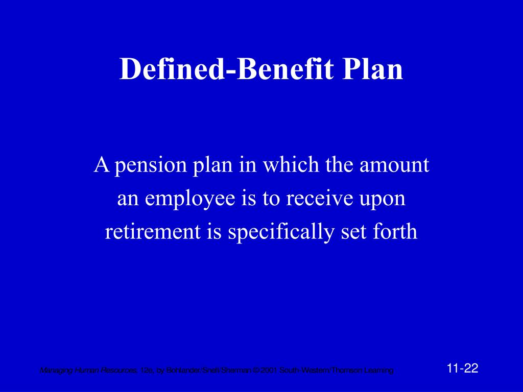 Defined-Benefit Plan