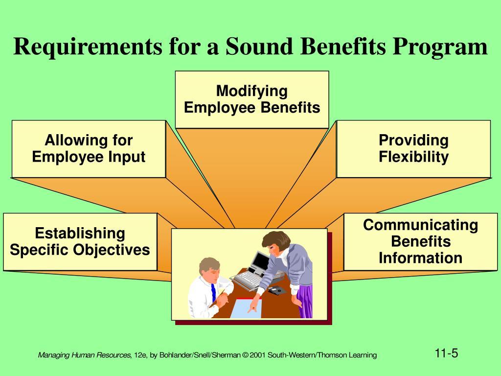 Modifying Employee Benefits