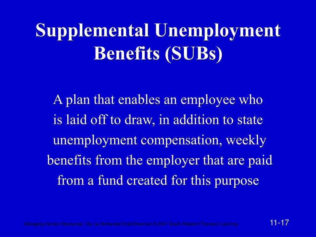 Supplemental Unemployment Benefits (SUBs)