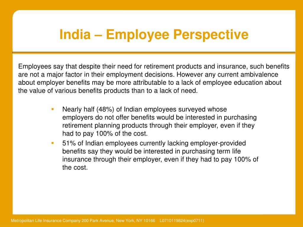 India – Employee Perspective