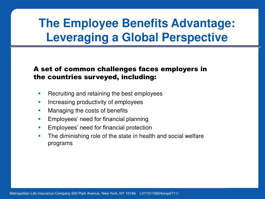 The Employee Benefits Advantage: Leveraging a Global Perspective