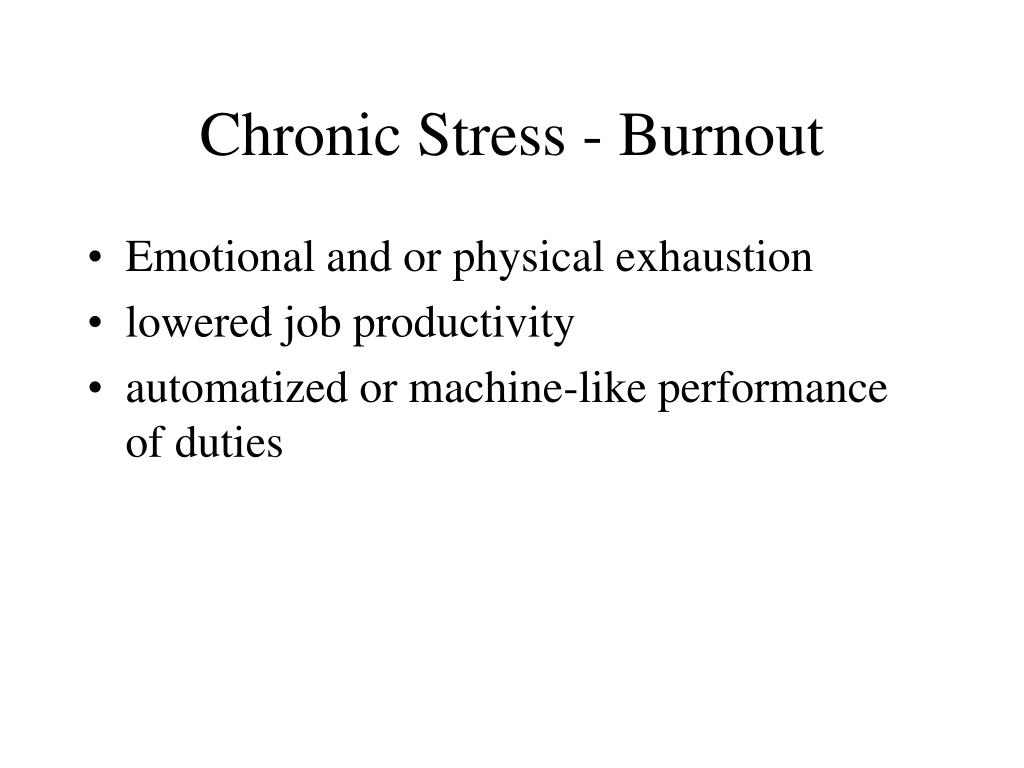 Chronic Stress - Burnout