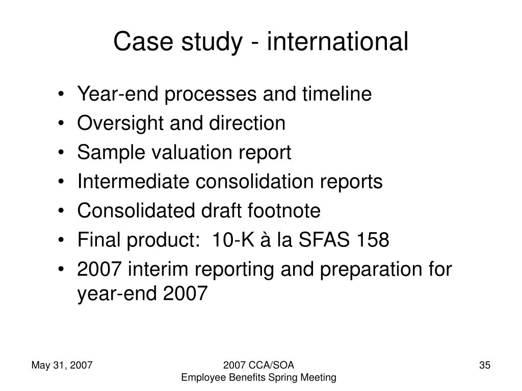 Case study - international