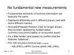 no fundamental new measurements