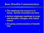 basic benefits communication12