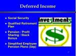 deferred income