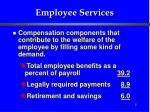 employee services