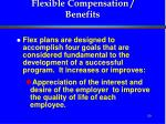 flexible compensation benefits