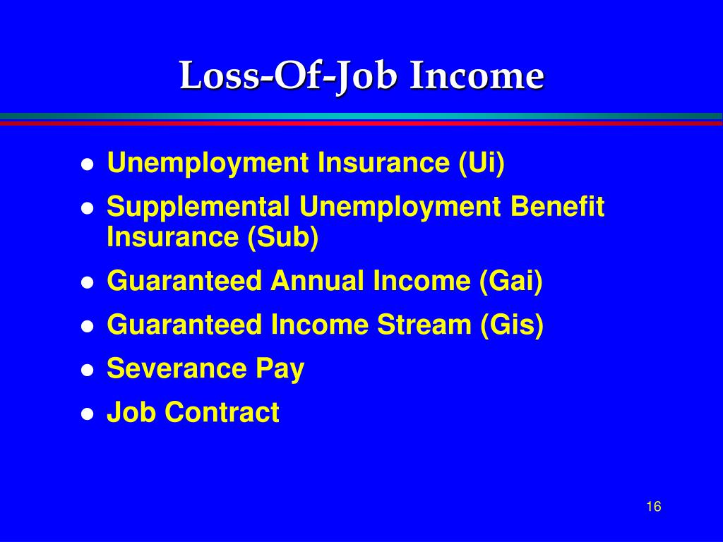Loss-Of-Job Income