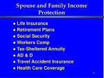 spouse and family income protection