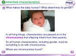 inherited characteristics