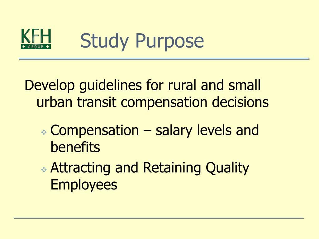 Study Purpose