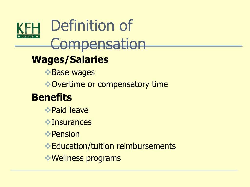 Definition of Compensation