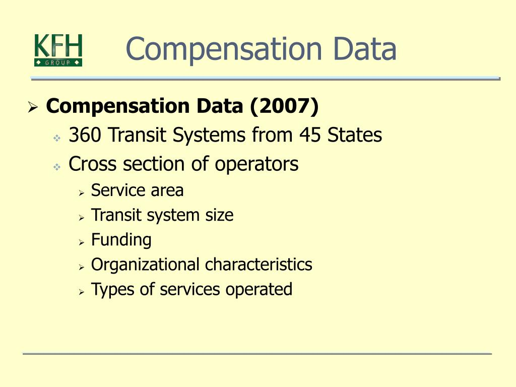 Compensation Data