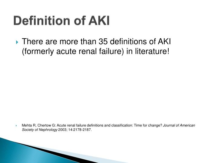 Definition of aki