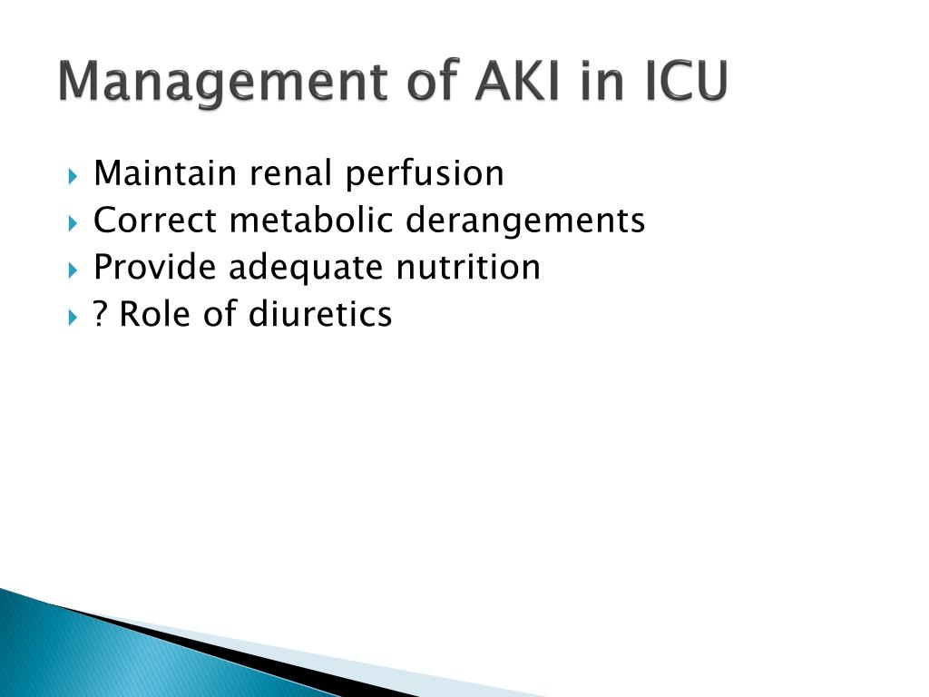 Management of AKI in ICU