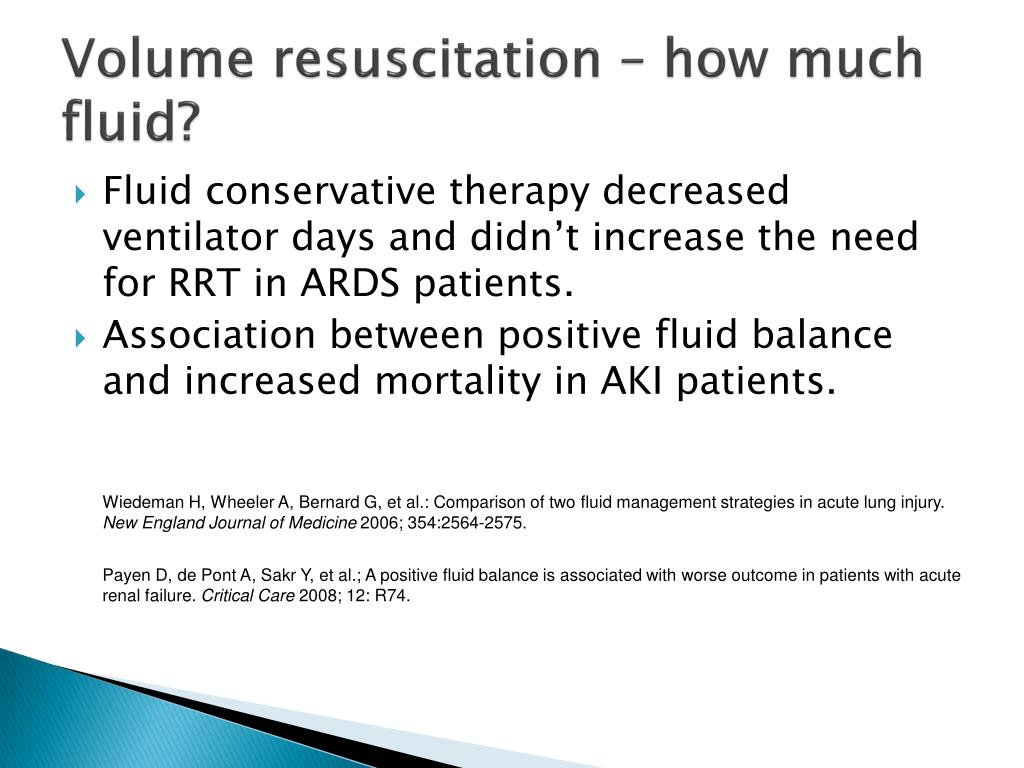 Volume resuscitation – how much fluid?
