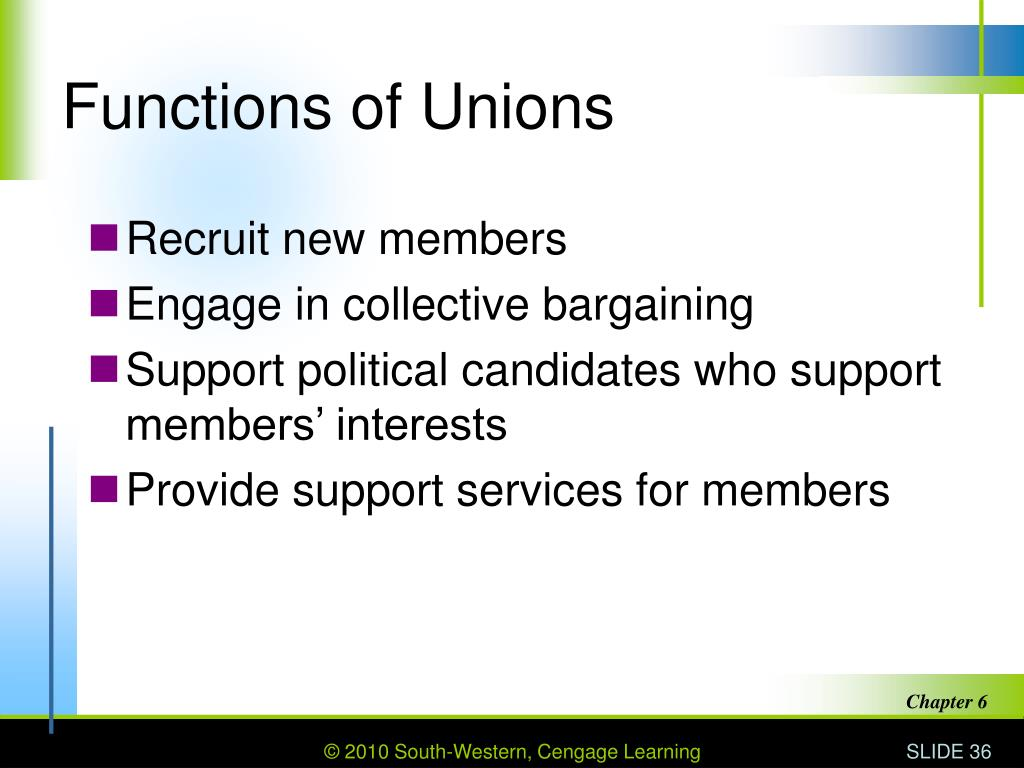 Functions of Unions