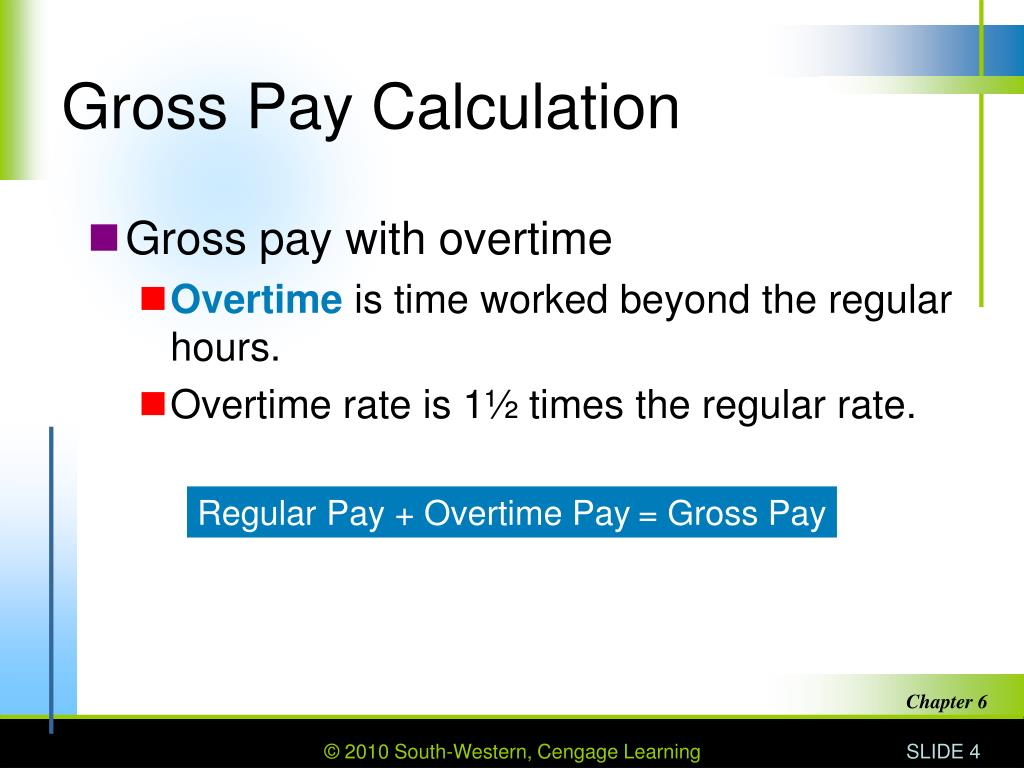 Gross Pay Calculation