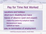 pay for time not worked