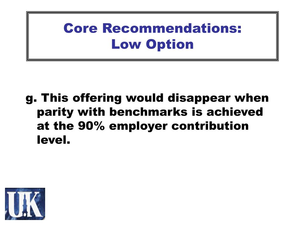 Core Recommendations: