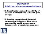 overview additional recommendations6