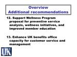 overview additional recommendations7